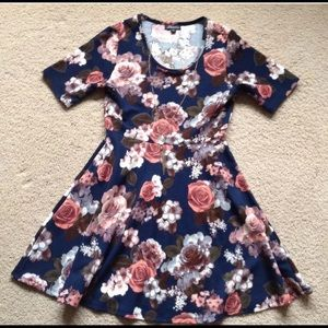 J for Justify Floral Knit Dress with Necklace